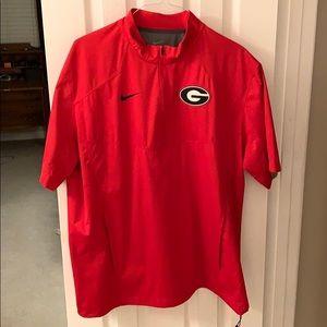 Nike Georgia Short Sleeve Quarter Zip Size L